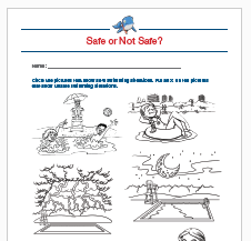 Water Safety Coloring Sheets