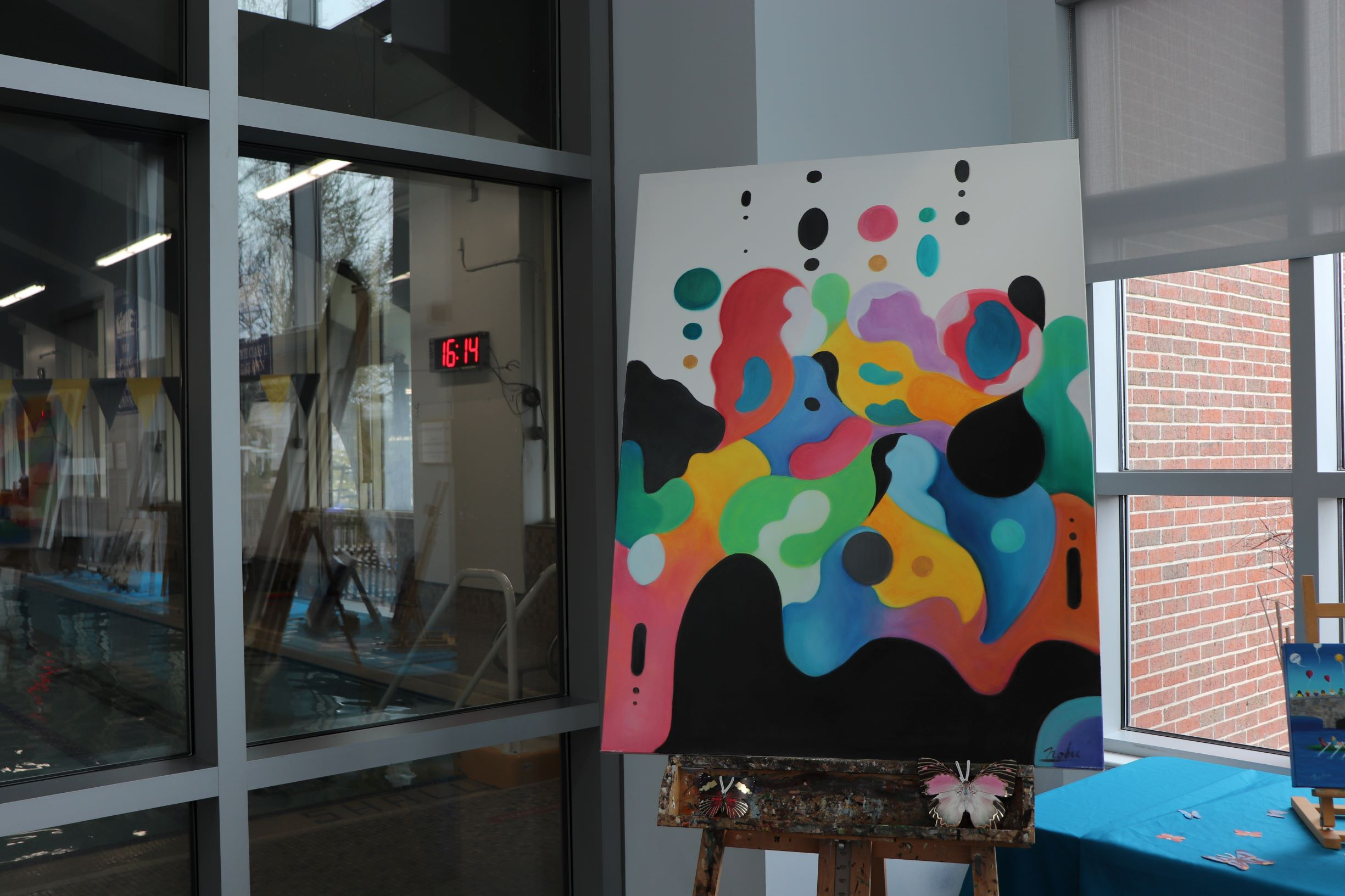 Nobu Ragetime Art Show at Darien YMCA