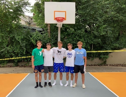 Full Court Peace Volunteers on Basketball Courts in Norwalk