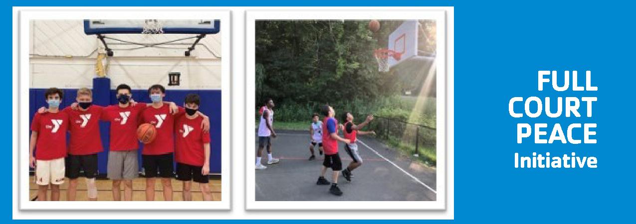 Boys Basketball Full Court Peace Intiviative